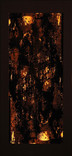 シリーズ » Amber (琥珀) 4 « 2003、リトグラフ、和紙、木材、豆電球、113 x 52 x 6.5 cm