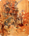 » 温ニ 乗ッテ (with the Heat) « 2002, Lithography on Handmade Paper, 65 x 50 cm, Edition 6