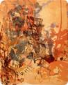 » 温ニ 乗ッテ (mit der Hitze) « 2002, Lithographie auf Büttenpapier, 65 x 50 cm, Aufl. 6
