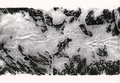 Serie » Schieferfluß 8 « 2010, Frottage auf Druckpapier, 61 x 82 cm, Unikat