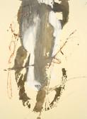 Serie » Acid Face 8 « 2002, Monotypie auf Büttenpapier, 38 x 28 cm, Unikat