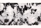 Serie » Schieferfluß 4 « 2010, Frottage auf Druckpapier, 61 x 82 cm, Unikat