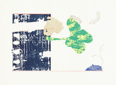 » Frühlingsgespräche « 2015, Lithographie und Linolschnitt auf Büttenpapier, 56 x 76 cm, Aufl. 4