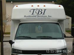 TBI shuttle bus