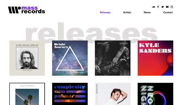 Music website templates – Record Label