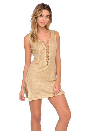 Luli Fama Spirit of a Fairy Lace Up Mini Dress
