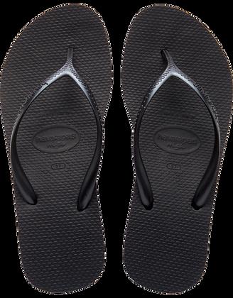Havaianas High Fashion Black Wedge Flip-Flops