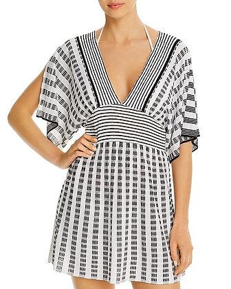 Trina Turk Stripe Covers Split Sleeve Tunic