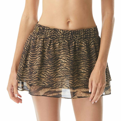 Michael By Michael Kors Essentials Tiger Cover Up Skirt