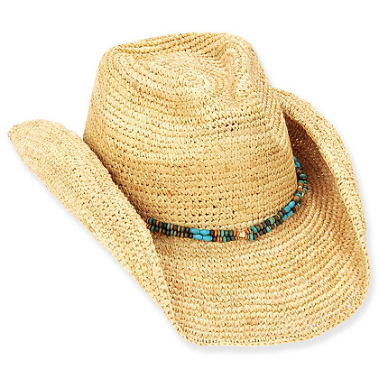 Sun N Sand Natural Sand Jeweled Western Hat