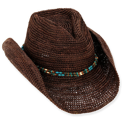Sun N Sand Brown Sand Jeweled Western Hat