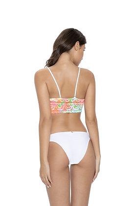 PQ Swim Cali Tie Dye Lace Fanned Teeny Bottom