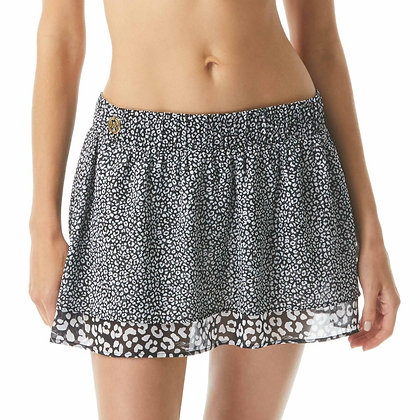 Michael By Michael Kors Essentials Animal Blend Cover Up Skirt