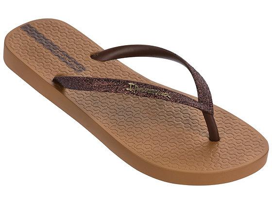 Ipanema Glitter II Flip Flops in Brown/Bronze