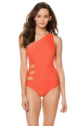 Carmen Marc Valvo Saint Tropez One Shoulder One Piece