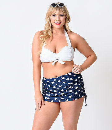 Unique Vintage Plus Size Stars High Waisted Bottom