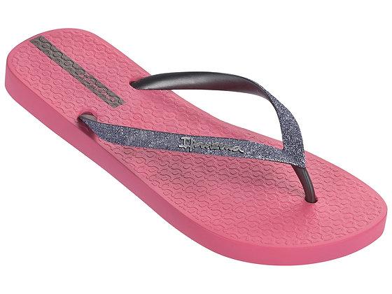 Ipanema Glitter II Flip Flops in Pink/Silver