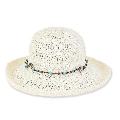 Sun N Sand White Puka Sun Hat