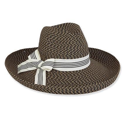 Sun N Sand Black Sirena Sun Hat