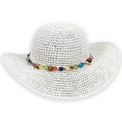 Sun N Sand White Crystal Bay Sun Hat