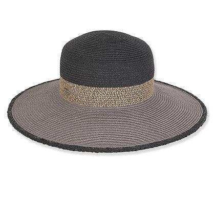 Sun N Sand Black Gale Sun Hat