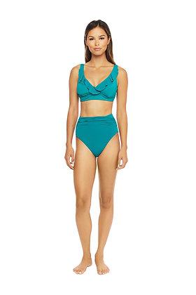 Lauren By Ralph Lauren Beach Club Ruffle Underwire Top