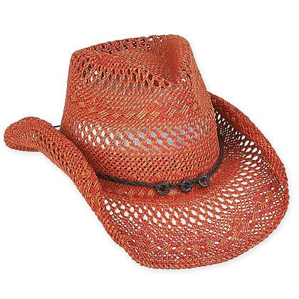 Sun N Sand Paper Straw Western Hat