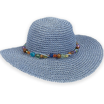 Sun N Sand Blue Crystal Bay Sun Hat