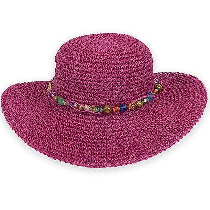 Sun N Sand Fuchsia Crystal Bay Sun Hat