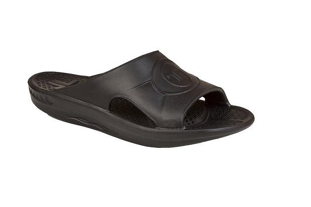 Telic Midnight Black Slide Sandals