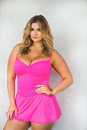 La Blanca Plus Pinkberry Island Goddess Swim Dress