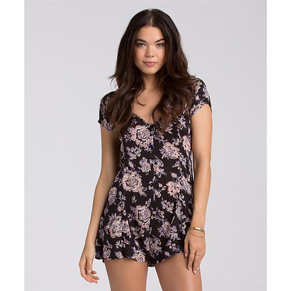 Billabong Festival Frenzy Romper in Off Black