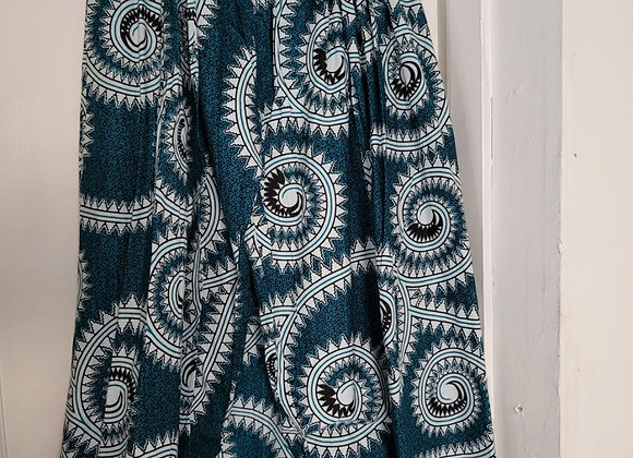 1007 - African Print Skirts/Headwrap