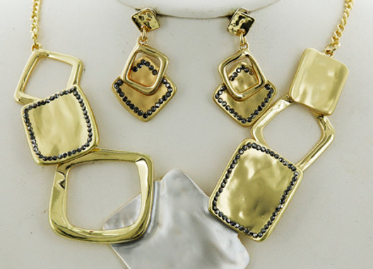 Silver/Gold Tone Squares