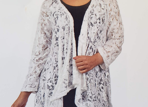 Open lace cover-up