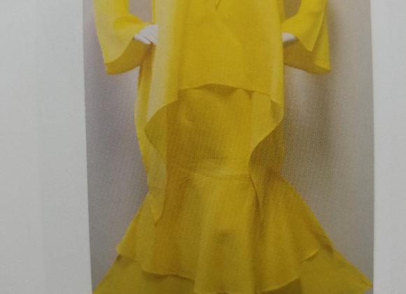 Yellow Tulip Skirt & Top