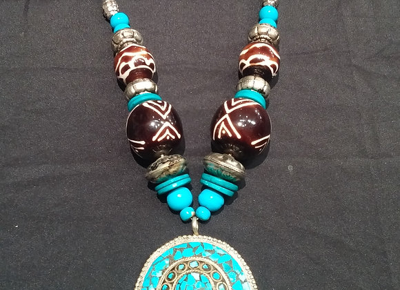 Big Turquoise Necklace
