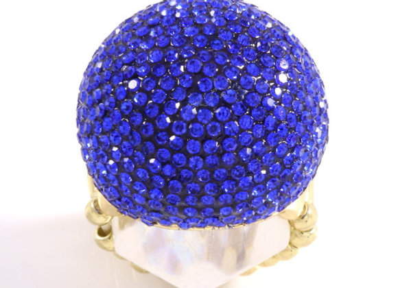 R070 - Dome Royal Blue Ring