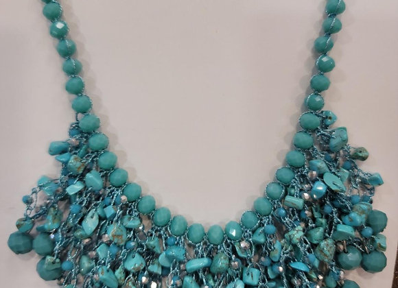 S093_Turquoise Beaded Necklace