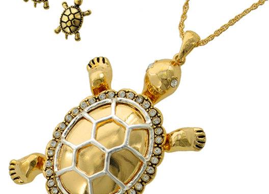 Gold Tone Turtle