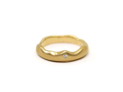 Wave One Diamond Ring