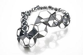 Necklace-Oxidized silver, Diamond, 8x11x4.25, 2013.jpg