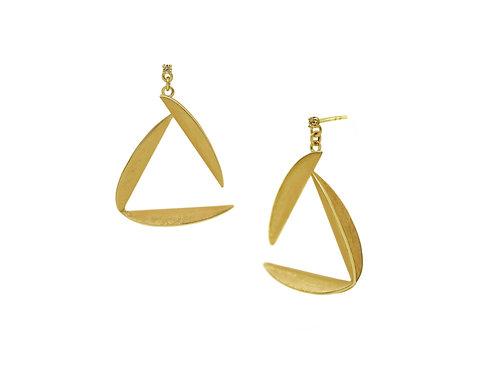 Open Triangle fold Earrings