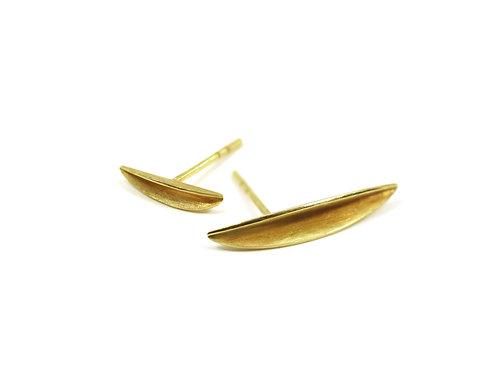 Folded Leaf Earrings