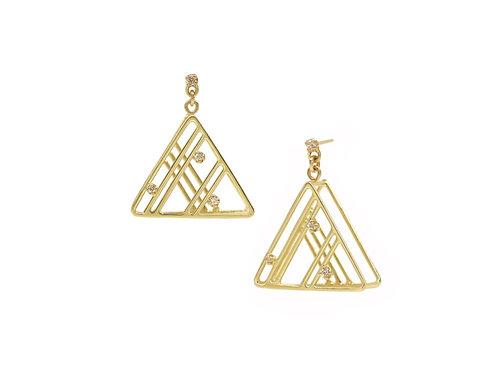 Angled Diamond Earrings