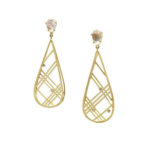 Long Lace drop Earrings