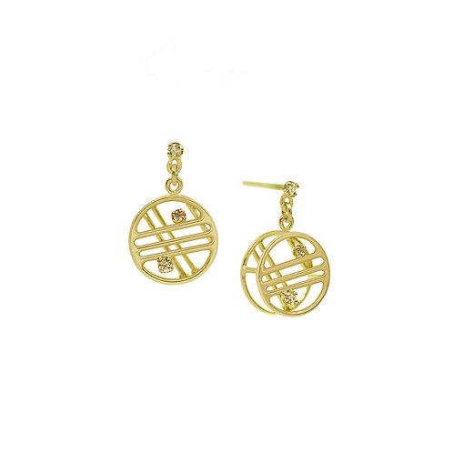 Small Round Diamond Earrings