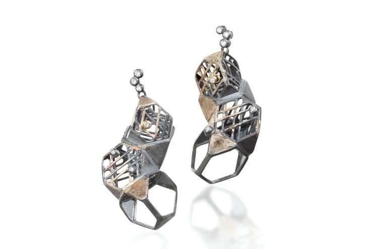 """Jee Hye Kwon-Earring, 0.875""""x1.75""""x0.75"""""""