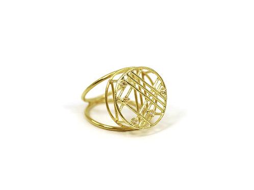 Circular Window Diamond Ring
