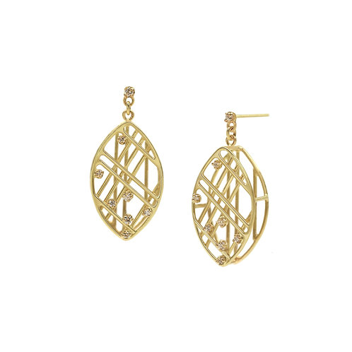 Marquise Shape Wire Earrings
